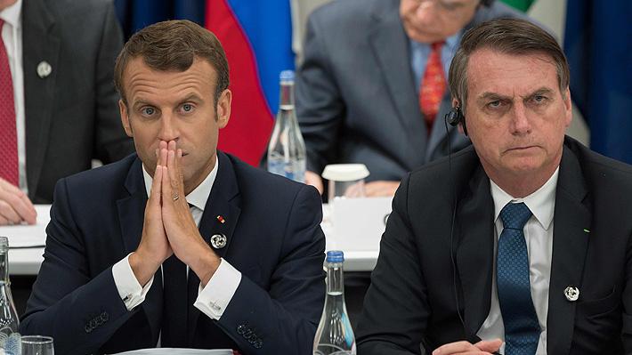 """Gobierno de Macron arremete: Acusa a Bolsonaro de """"mentir"""" y no apoyará el acuerdo UE-Mercosur"""
