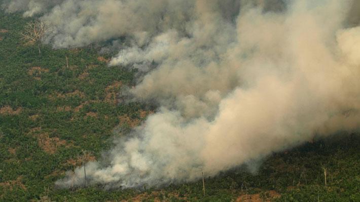 En Argentina reportan que el humo de los incendios en la Amazonía llegó a su territorio