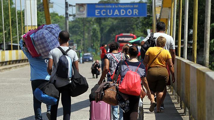 Miles de venezolanos ingresaron el fin de semana a Ecuador antes de que empezara a regir el requisito de visa