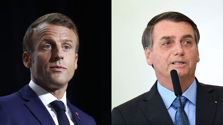 Macron vs. Bolsonaro: La guerra verbal entre los presidentes de Francia y Brasil por la crisis en la Amazonía