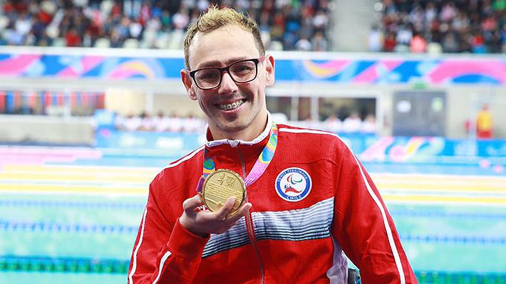 Alberto Abarza se vuelve a imponer en la natación y Chile ya llega a nueve metales dorados en los Parapanamericanos