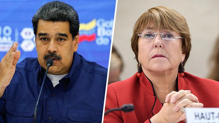"""Maduro vuelve a criticar a Bachelet por informe sobre Venezuela: """"Debería agarrar una piedra y darse en los dientes"""""""