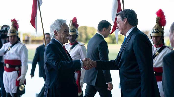 Piñera se reúne con Jair Bolsonaro en Brasil en medio de tensión internacional por incendios en la Amazonía