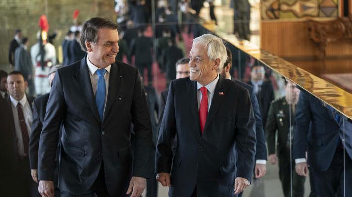 """Piñera y Bolsonaro concuerdan que """"desafíos ambientales deben abordarse respetando la soberanía nacional"""""""