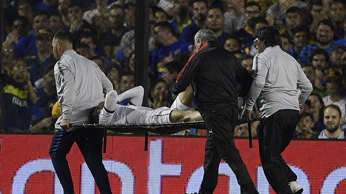 Video: La escalofriante fractura de tibia y peroné que sufrió un jugador ecuatoriano ante Boca Juniors