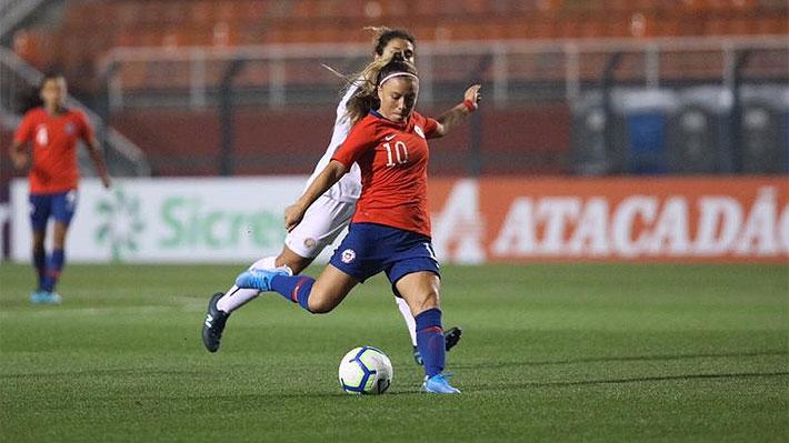 """Con un golazo de Yanara Aedo, la """"Roja"""" femenina derrotó a Costa Rica en un torneo amistoso"""