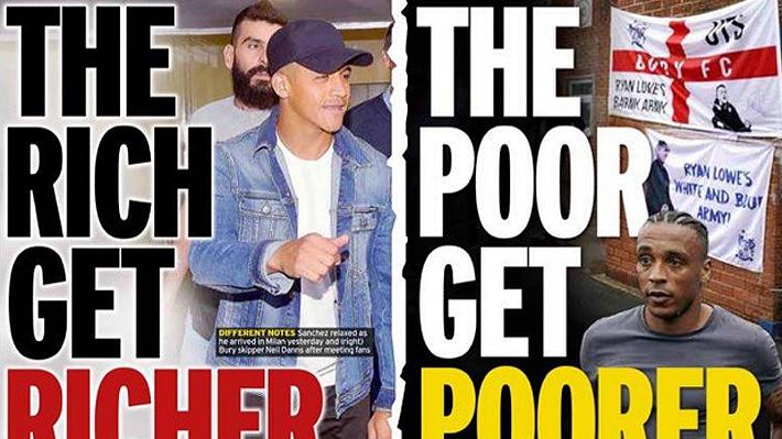 """""""El rico se hace más rico y el pobre más pobre""""... Las reacciones en Europa tras el arribo de Alexis Sánchez al Inter de Milán"""