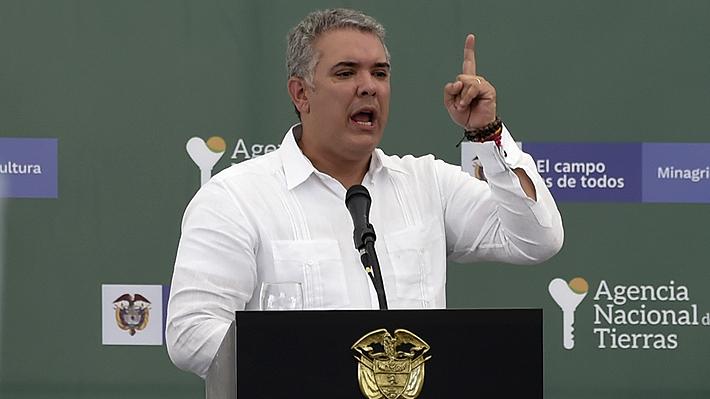 """Presidente de Colombia denunciará a Nicolás Maduro ante la OEA y la ONU por """"auspiciar y proteger a terroristas"""""""