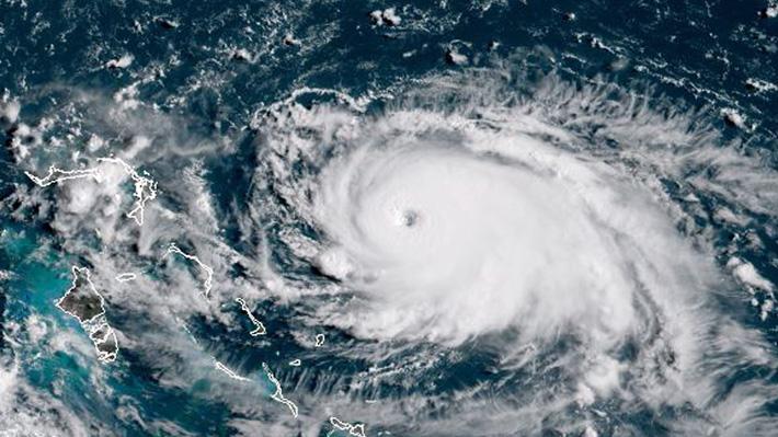"""El huracán """"Dorian"""" llega a categoría 5, la máxima en la escala, antes de alcanzar las Bahamas"""