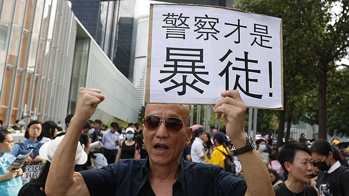 China acusa a manifestantes de intentar derrocar al Gobierno de Hong Kong