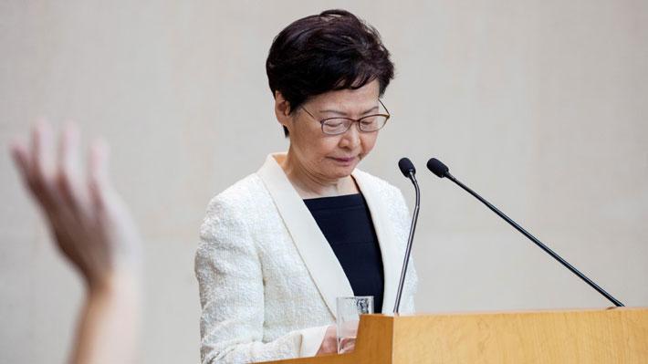 Jefa de Gobierno de Hong Kong confirma retiro del proyecto sobre extradiciones pero no apacigua las protestas
