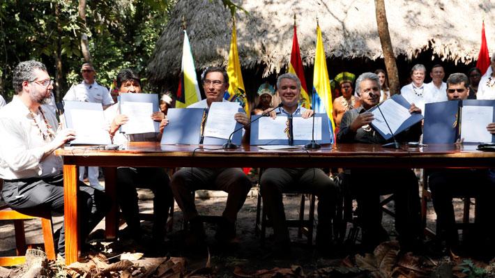 Países amazónicos firman acuerdo para proteger la selva tras cumbre en Colombia
