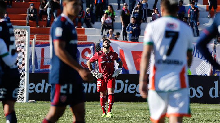 En el regreso de Herrera a la titularidad, la U cae ante Cobresal por Copa Chile en la primera derrota de Caputto como DT azul