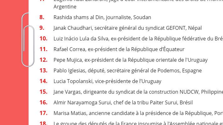 Lula da Silva y Pablo Iglesias denuncian con otras 200 personalidades en Francia los juicios motivados políticamente