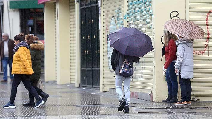 Sistema frontal en la zona central podría dejar hasta 10 mm de lluvias y viento de 50 km/h