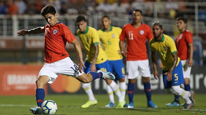 """La """"Roja"""" Sub 23 pagó caro sus errores y cayó ante un superior Brasil en un duelo amistoso"""
