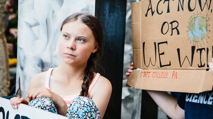 """Greta Thunberg se reunió con Naomi Klein en Nueva York: """"¡Muy contenta de al fin conocernos!"""""""
