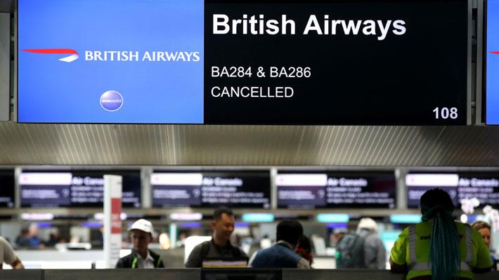 British Airways cancela casi la totalidad de sus vuelos por huelga de pilotos