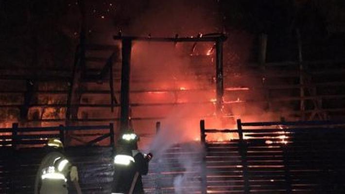"""Fed. de Rodeo denuncia nuevo ataque incendiario en medialuna y alerta de una """"escalada"""" en sabotajes de grupos animalistas"""
