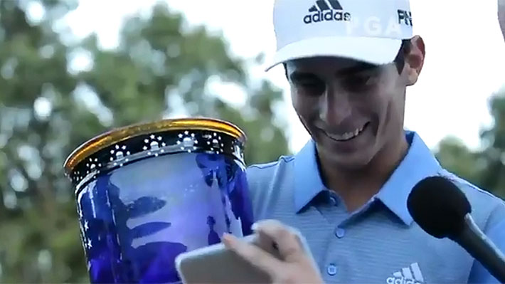 Mira la emocionante sorpresa que le dedicó el PGA a Niemann luego de ser campeón