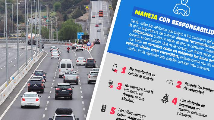 Fiestas Patrias: Sigue estos sencillos consejos y evita accidentes durante la conducción