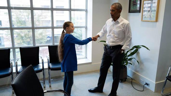 """Obama se reúne con Greta Thunberg para hablar sobre el clima: """"El futuro va a estar marcado por líderes como ella"""""""