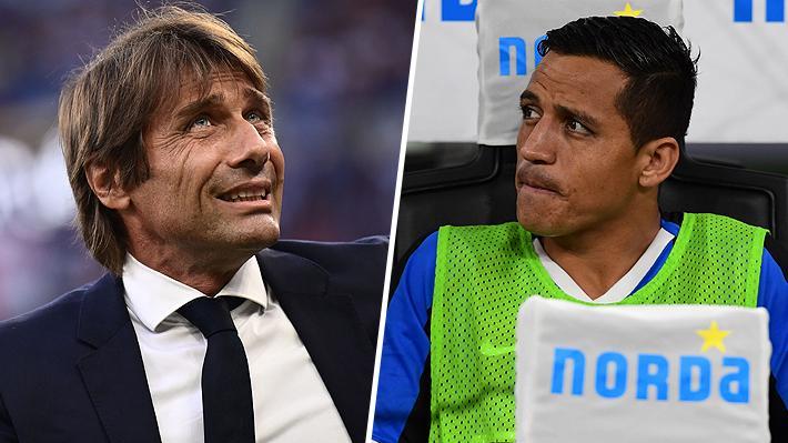 Antonio Conte reveló el motivo por el que prescindió de Alexis Sánchez en el debut del Inter en Champions League