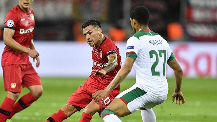 Un grosero error de su portero condenó al Leverkusen de Aránguiz, que cayó como local ante el Lokomotiv por la Champions