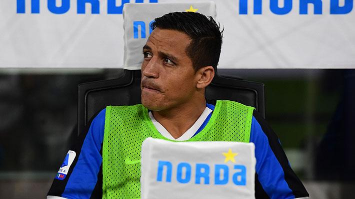 Alexis Sánchez no sale de su mal momento y sólo suma 10 minutos en cancha desde que llegó al Inter