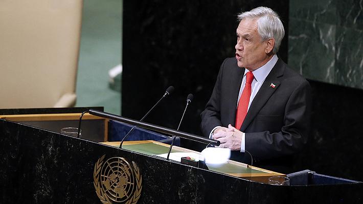 Piñera inicia viaje a Estados Unidos: Participará en Asamblea de la ONU y en cumbre Climática