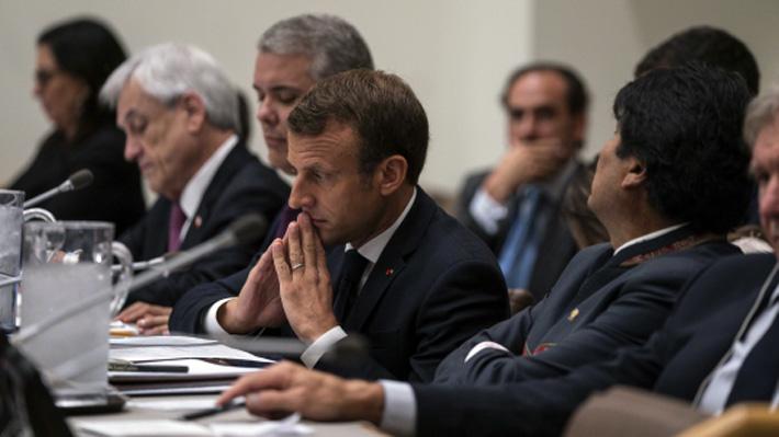 Presidente francés Emmanuel Macron anuncia que visitará Chile para cumbre de la COP25