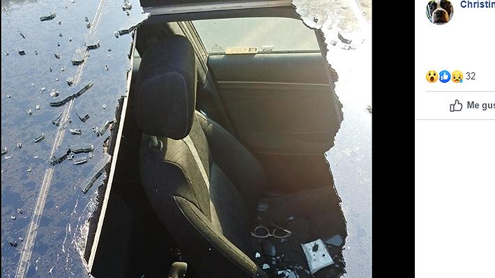 Estadounidense advierte los riesgos de dejar botellas de shampoo en seco al calor tras accidente en auto de su hija