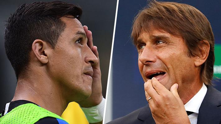 La tajante respuesta de Antonio Conte para explicar la suplencia de Alexis Sánchez en el Inter de Milán