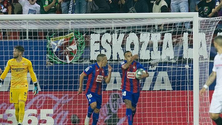 Fabián Orellana fue figura, le hicieron la falta y él mismo marcó de penal... Mira su gol en la notable remontada del Eibar