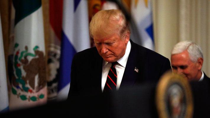 """Trump pierde respaldo y encuestas muestran apoyo de estadounidenses al probable """"impeachment"""""""
