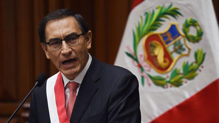 Presidente Vizcarra anuncia disolución constitucional del Congreso peruano y convoca a elecciones parlamentarias