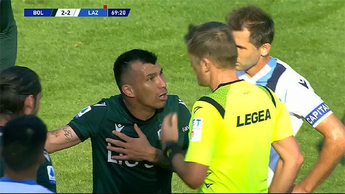 Video: Gary Medel fue expulsado en empate del Bologna con ayuda ...