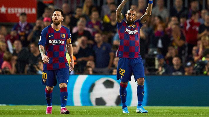 Incluso fue mejor calificado que Messi: Prensa española se rinde ante Vidal tras duelo en el que anotó y salió ovacionado