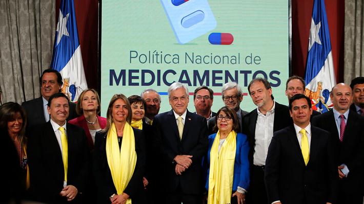 Piñera lanza Política Nacional de Medicamentos y responsabiliza a laboratorios y farmacias por altos precios