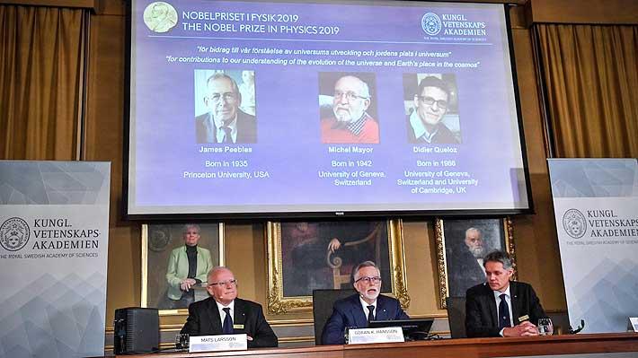 Nobel de Física premia a tres científicos por contribuir a la comprensión de la evolución del universo