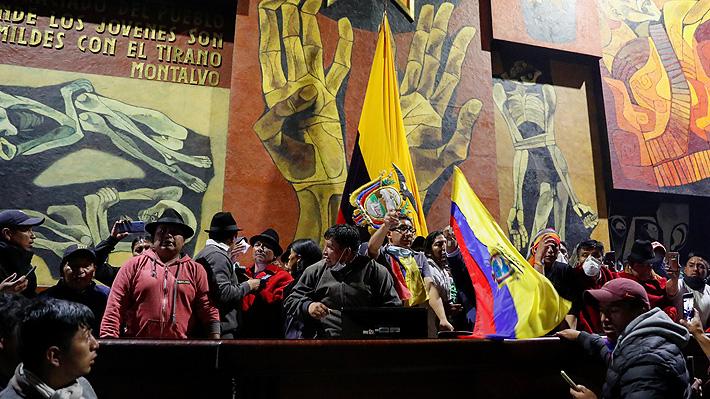 Movimientos indígenas se toman sede del Parlamento en Ecuador en protesta contra Moreno
