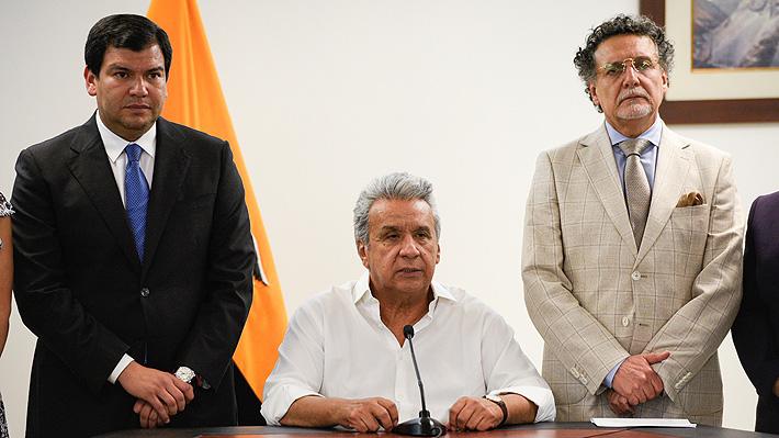 """Poderes del Estado de Ecuador se cuadran con Moreno y denuncian """"acciones conspirativas"""" lideradas por """"fuerzas ajenas"""""""