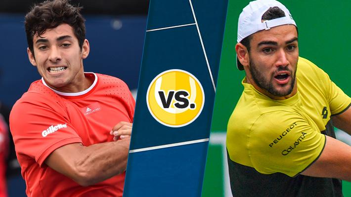 Mira cómo fue la derrota de Garin ante Berrettini en segunda ronda del Masters de Shanghai