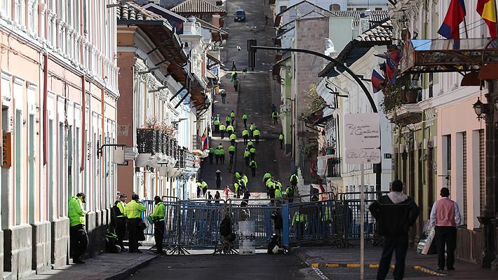 Bloqueos de calle y escasez de transporte marcan inicio de la huelga nacional en Ecuador