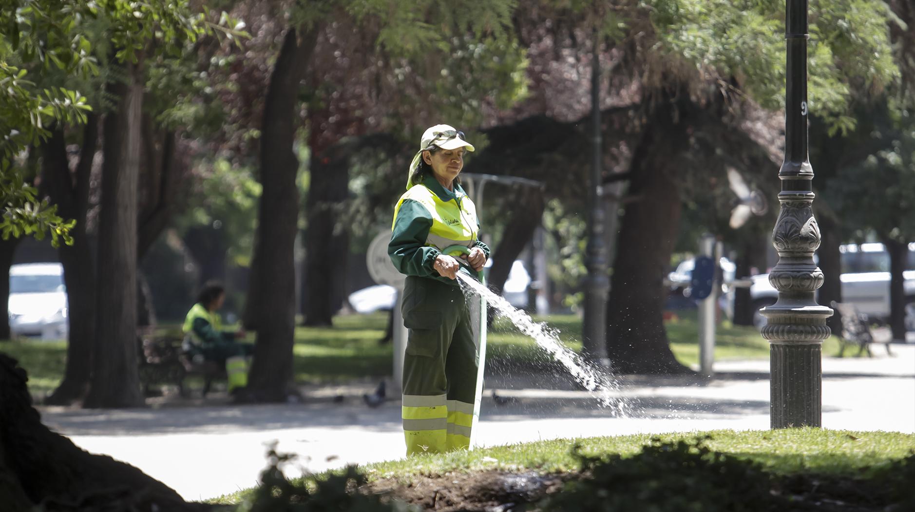 Las medidas de los municipios de la RM con más áreas verdes ante la escasez hídrica