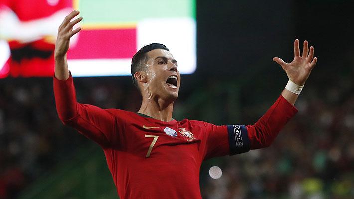 Cristiano Ronaldo marcó un golazo en clara victoria de Portugal sobre Luxemburgo... Mira la anotación