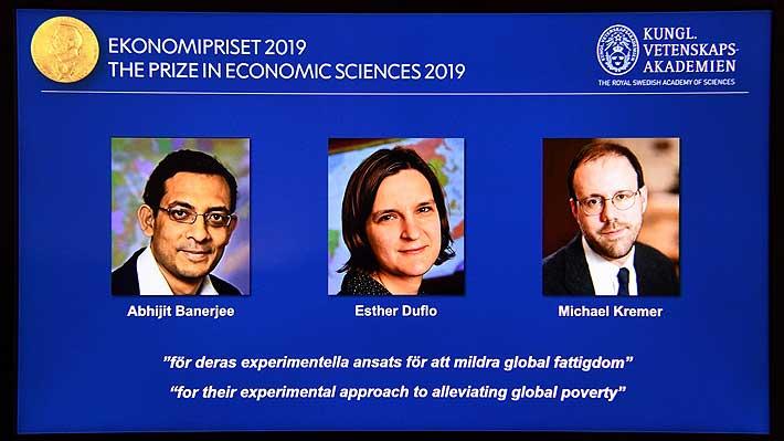 Un indio, una francesa y un estadounidense ganan el Premio Nobel de Economía por sus estudios sobre pobreza