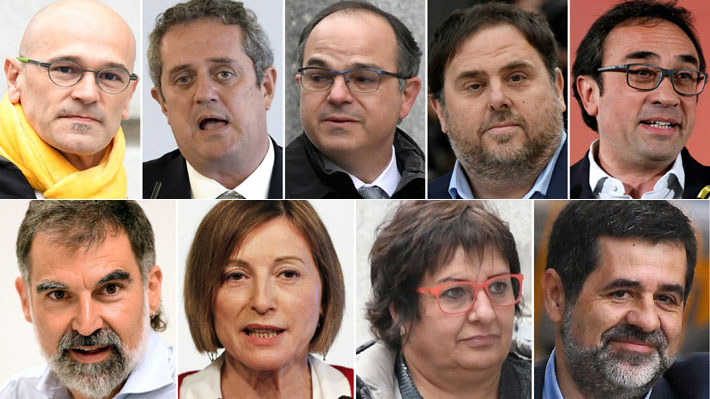 Independentistas a la cárcel: Quiénes son los nueve líderes catalanes sentenciados a prisión en España
