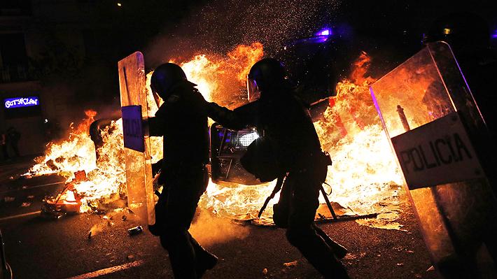 Resultado de imagen de ultimos disturbios en cataluña