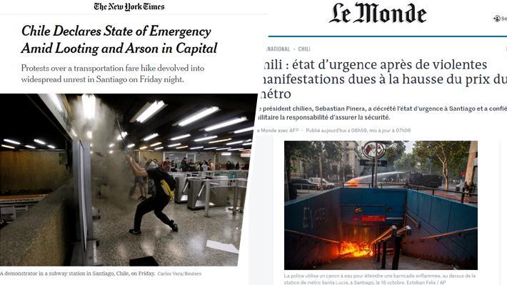 """Prensa internacional por violencia y destrucción en Santiago: """"La clase política no ha estado a la altura"""""""